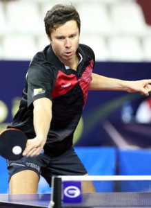 Vladimir Samsonov, Chairman of ITTF Athletes Commission, looks forward to playing with the new ball.