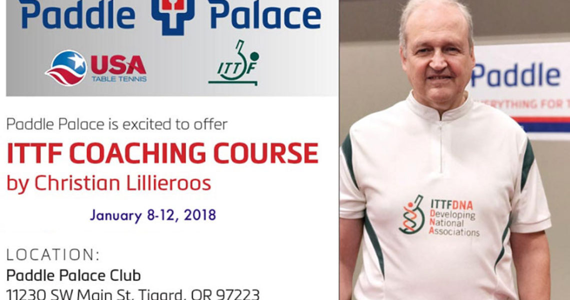 ITTF-PTT Level 1 Coaching Course at Paddle Palace Club
