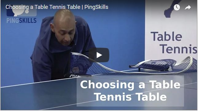 PingSkills Choosing a Table