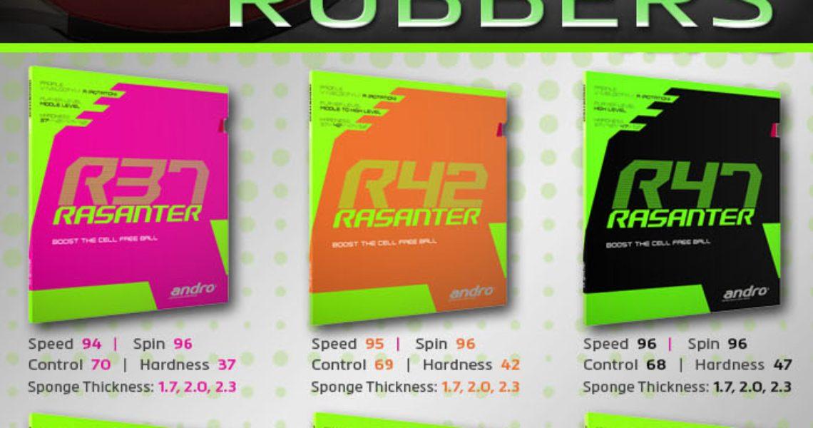 andro Rasanter R and V Rubber Series Reviews