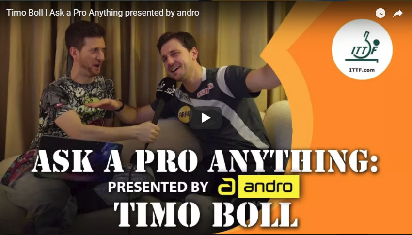 Ask a Pro Anything - Timo Boll