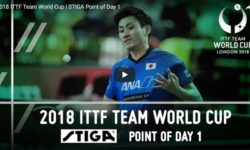 2018 ITTF Team World Cup - STIGA Point of Day 1