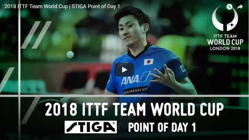 2018 ITTF Team World Cup - STIGA Point of Day 1