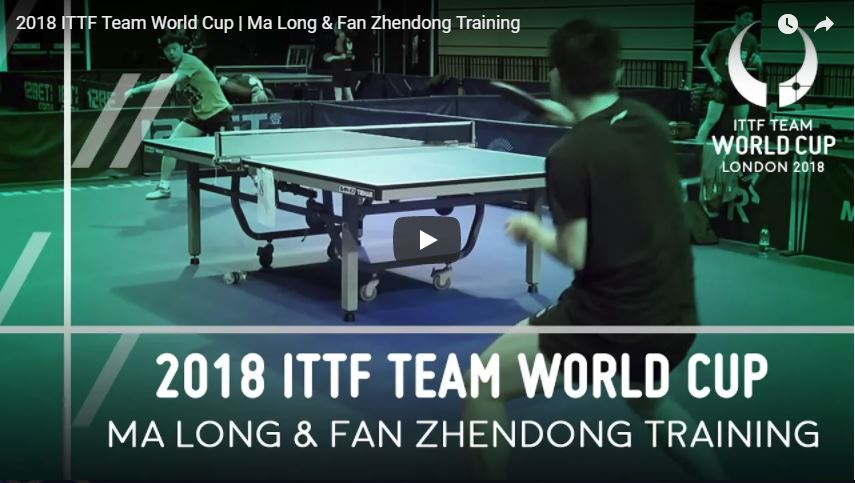 Ma Long and Fan Zhendong Training