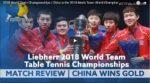 2018 World Team Championships | China is the 2018 Men's Team World Champion