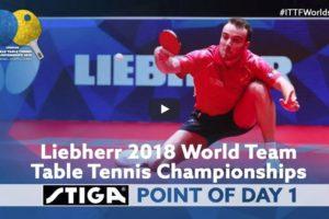 2018 ITTF Team World Championships – STIGA Point of Day 1