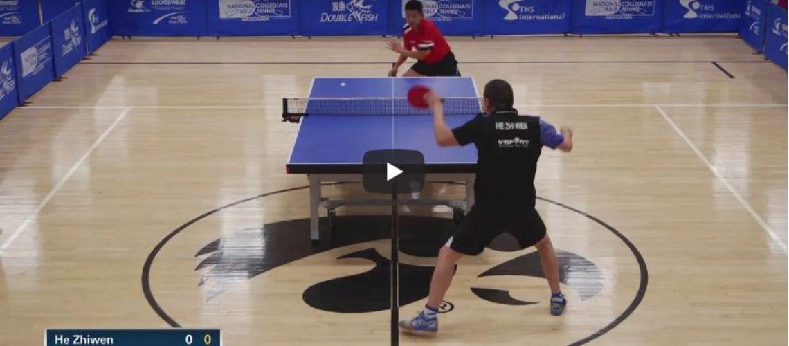 2018 Paddle Palace Hawkeye Open – MS Semi-Finals – He Zhi Wen vs Tao Wen Zhang Highlights