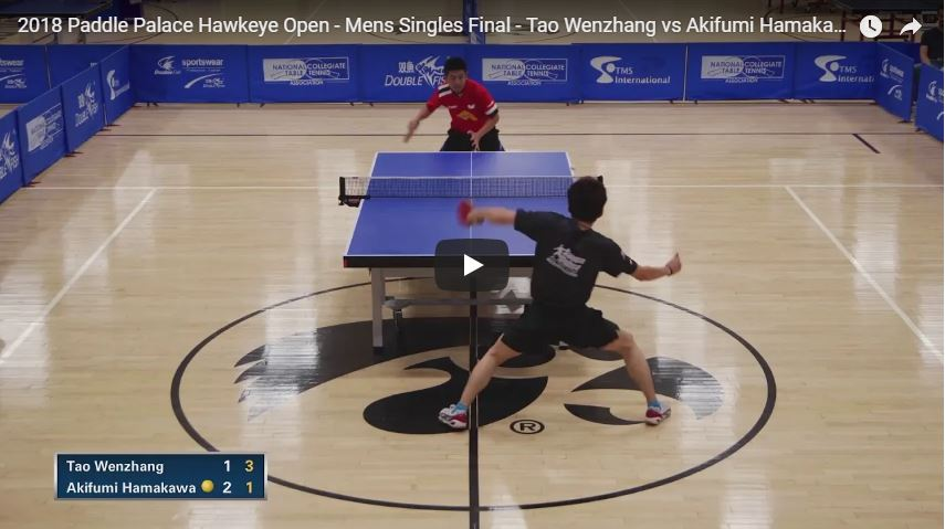 2018 Paddle Palace Hawkeye Open – Final – Tao Wenzhang vs Akifumi Hamakawa Highlights
