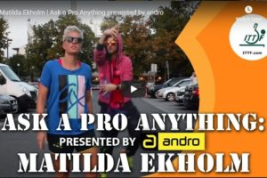 Matilda Ekholm –  Ask a Pro Anything presented by andro